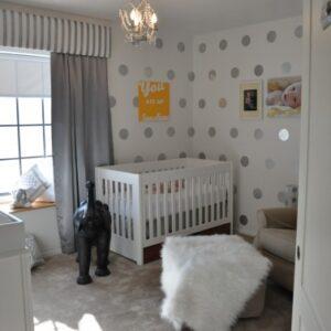 Flashback; Polka Dot Nursery on a Budget