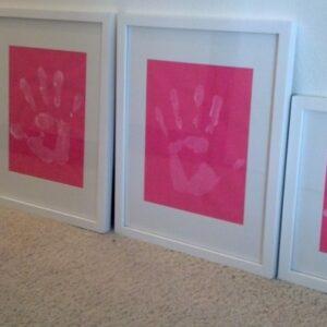 Her Pinspiration: Hand Print Art