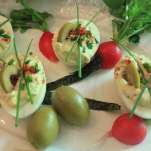 Best Deviled Eggs With AppleWood Smoked Olives–DIVINE!