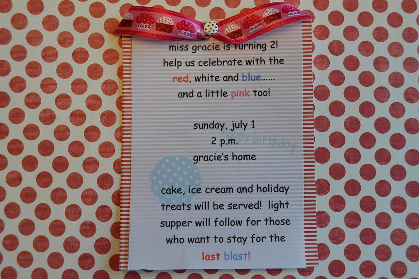 4th Of July Birthday Party Invites