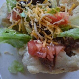 Kids in the Kitchen ~ Cheesy Sloppy Joe Taco Cups