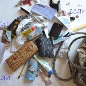 Update:  What's in her purse?  No really – what is that?