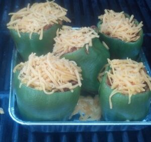 Her Pork Stuffed Green Peppers