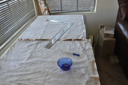 lining main fabric with inexpensive muslin