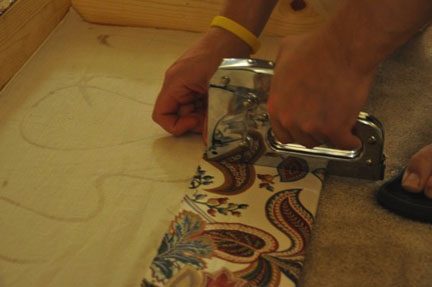 use short staples on the back side of the main valance piece