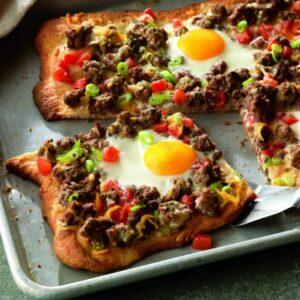 Beef Breakfast Pizza Ole'