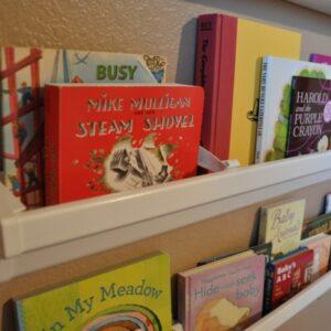 Bookshelves made from rain gutters!