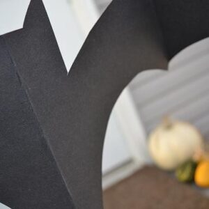 A favorite Halloween Craft for Her Girls ~ Hanging Bats!
