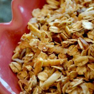 Honey Cinnamon Granola; Her Breakfast Treat