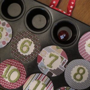 Magnetic Muffin Tin Advent Calendar