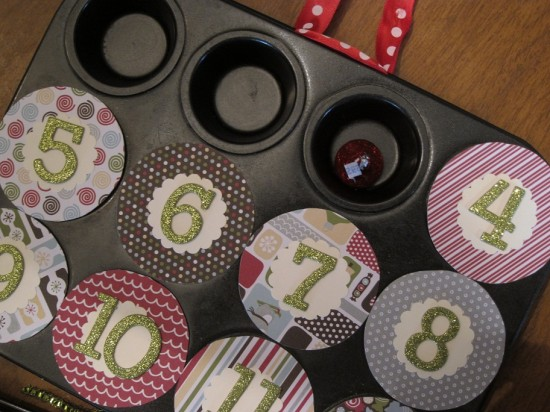 Magnetic Muffin Tin Advent Calendar   www.herviewfromhome.com