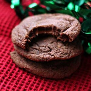 Chocolate Caramel-Filled Cookies