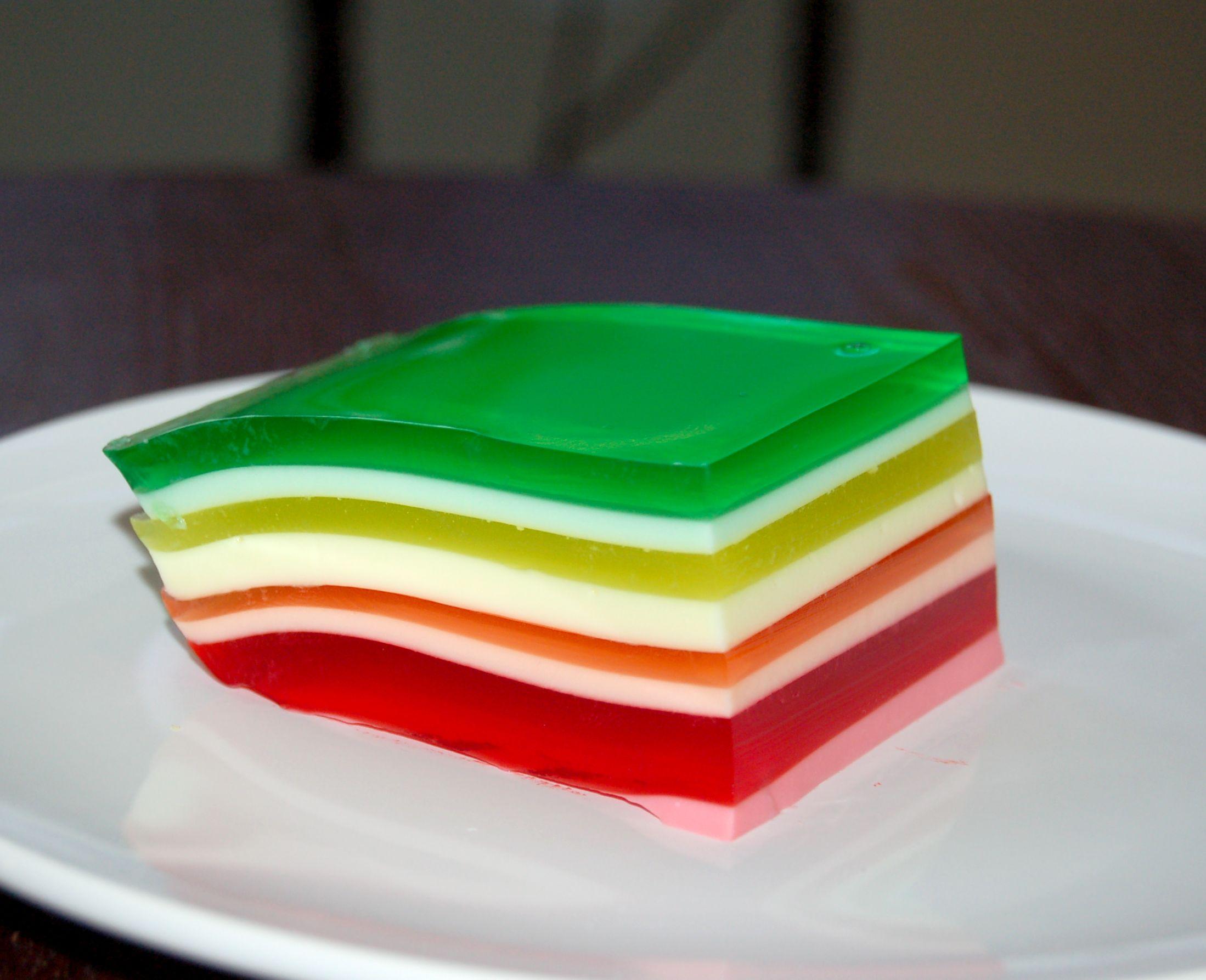 Rainbow Layered Jello | Apps Directories