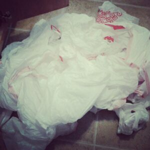 Life in a trash bag; We made the move.