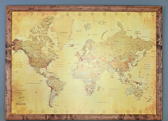 DIY Love Map; Remember Your Travels Together   www.herviewfromhome.com