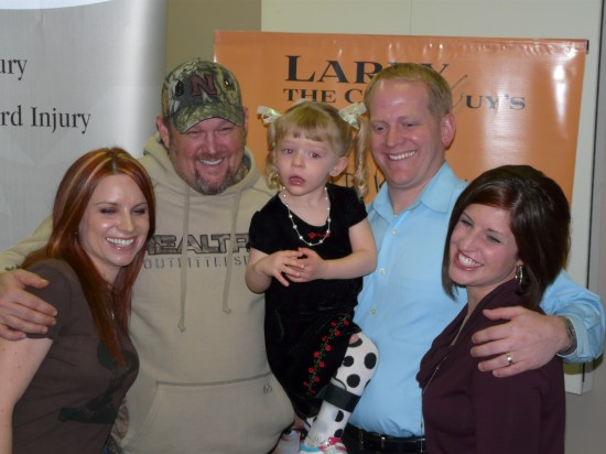 Larry the Cable Guy and family of Alexis Verzal