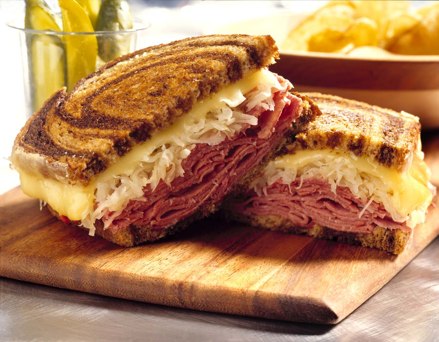 reuben sandwich on whole wheat with corned beef russian dressing and ...