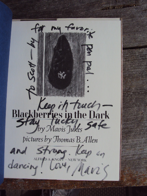 MJ Blackberries Inscription