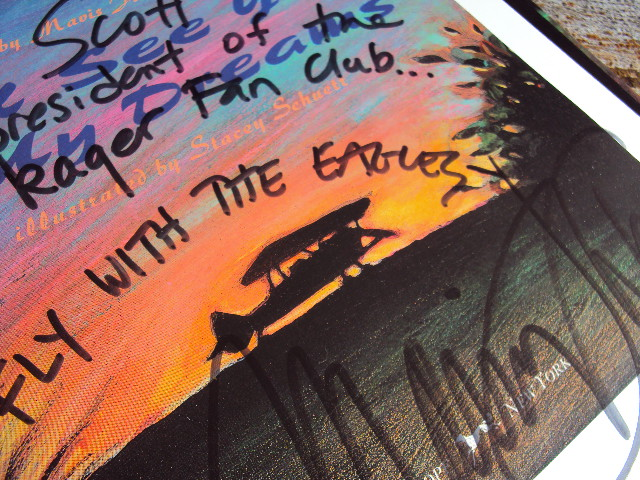 MJ Eagles Inscription