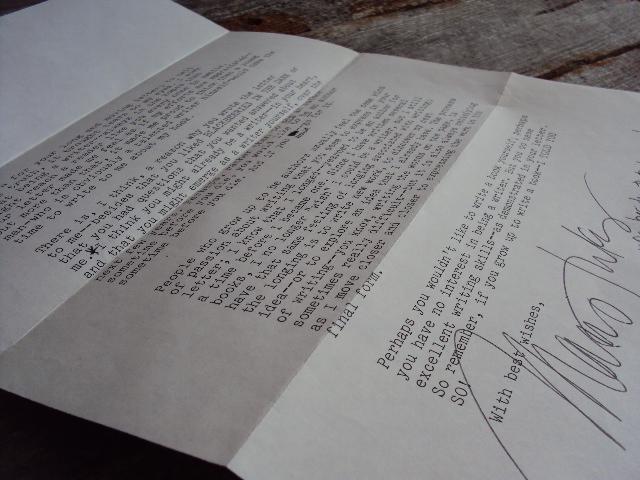 MJ original letter side