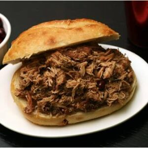 Cranberry Sauc'd Pulled Pork & Jalapeno Relish