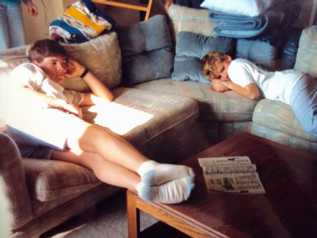 bro teenage sofa