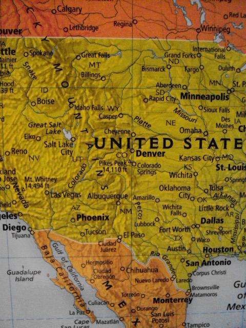 world map north america