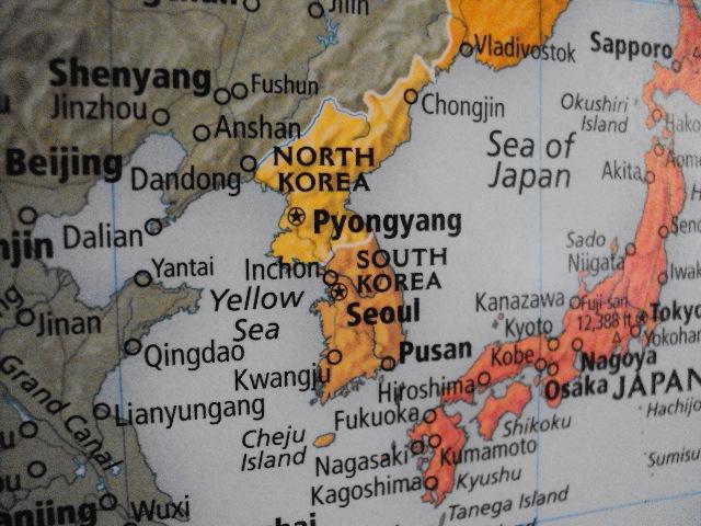 world map north korea