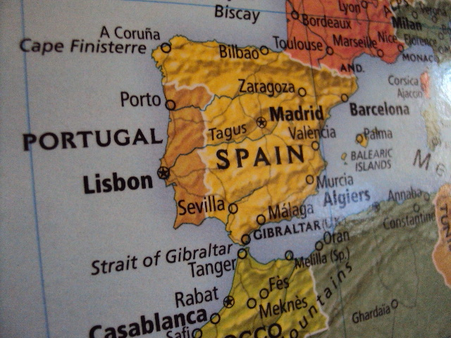 world map spain