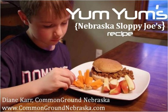 Yum Yum's Nebraska Sloppy Joes Recipe Diane Karr CommonGround Nebraska