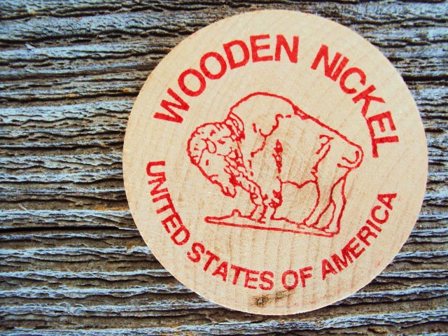 mom wooden nickel