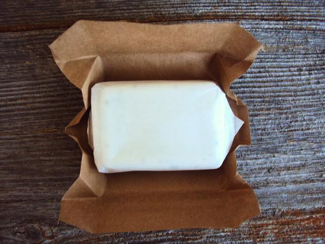 soap in wax paper