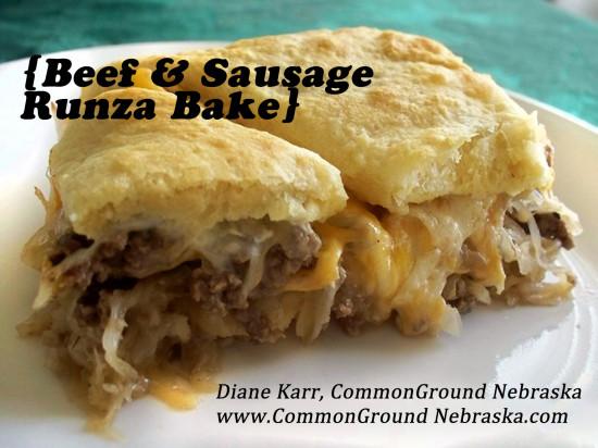 Beef & Sausage Runza Bake