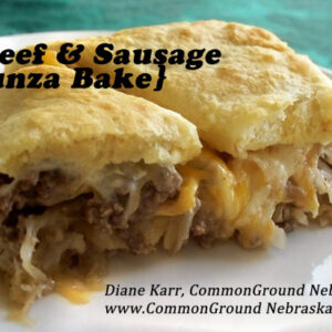 Beef and Sausage Runza Bake