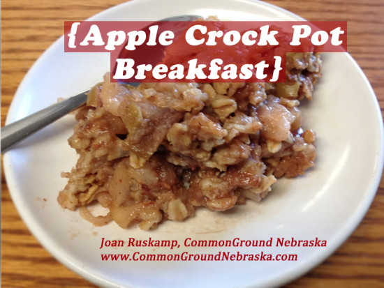 Apple Crock Pot Breakfast