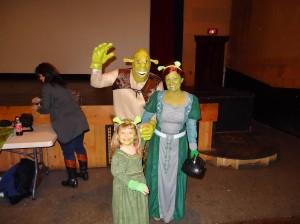 Shrek, Fiona and Fiona Jr.