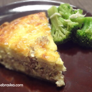 Sausage and Cheese Quiche