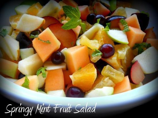 mint spring salad
