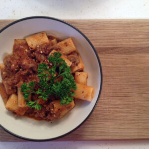 Easy Semi-Homemade Pasta Sauce with Rigatoni