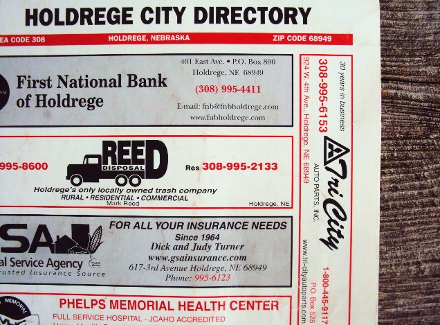 Holdrege Directory cover