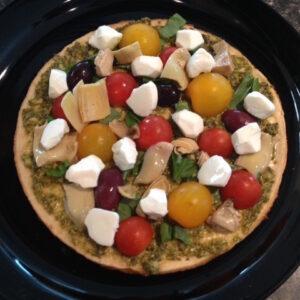 Mediterranean Grilled Pizza