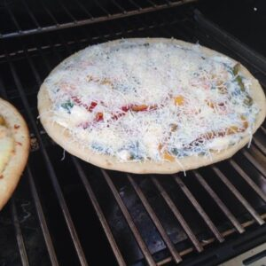 Grilled Shrimp & Spinach Pizza