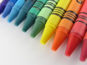 crayons back to school