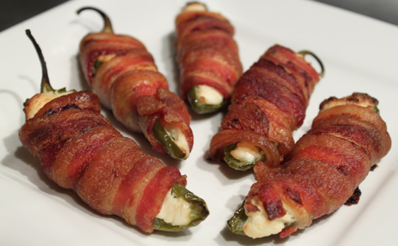 Bacon-Wrapped Jalapeno Poppers | Her View From Home