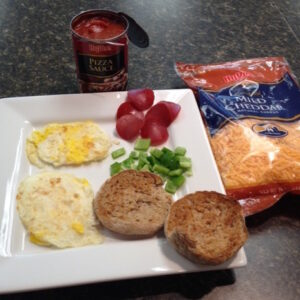Back-To-School Breakfast – Mini Pizza