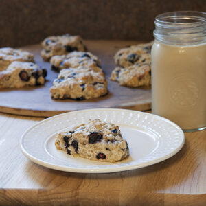 Blueberry Scones with Whole Grains