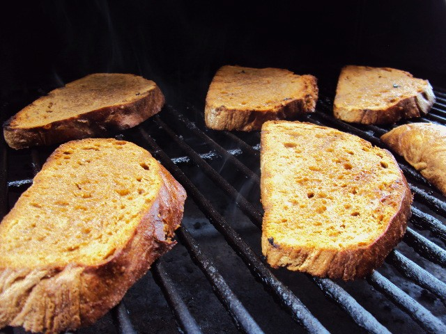 Rustic Bread on Grill