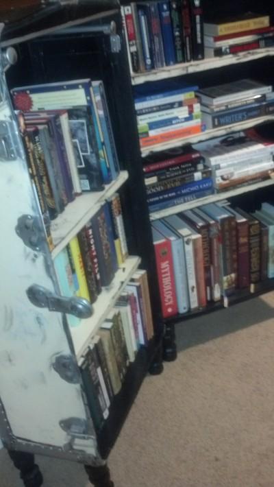 Finished Book Steamer Chest Book Shelf W Books