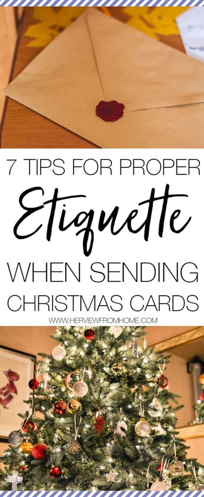 Do you send out your Christmas cards with the same generic 'Merry Christmas' every single year? Read this post about the 7 tips for proper etiquette when sending Christmas cards.