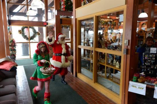 Santa at Mahoney